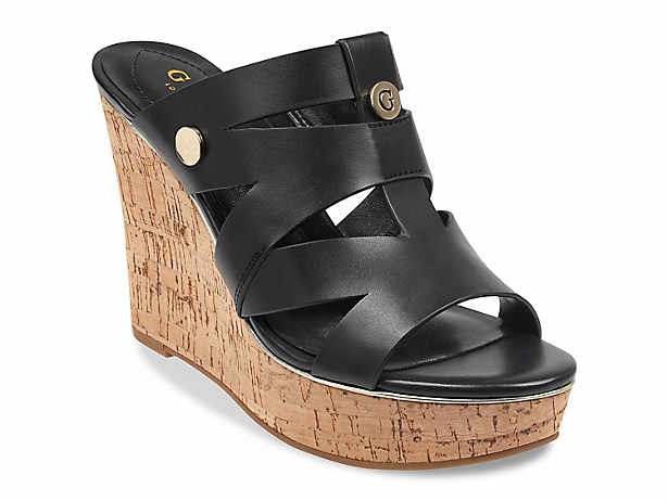 SandalsDsw Wedge Black Women's Black SandalsDsw Wedge Women's Guess Black Women's Guess 80wPXknO