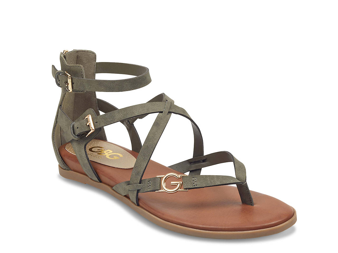 0d10182af12c G by GUESS Carlyn Gladiator Sandal Women s Shoes