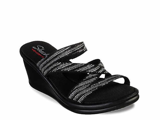 65de498c9 Skechers Cali Rumblers Wave Ibiza Wedge Sandal Women s Shoes