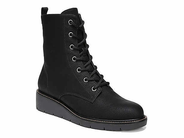 5f1121ce4545 Dr. Scholl s. Straightup Wedge Combat Boot