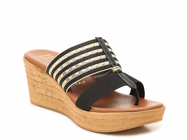 e3537067d8f7 Italian Shoemakers. Nami Wedge Sandal