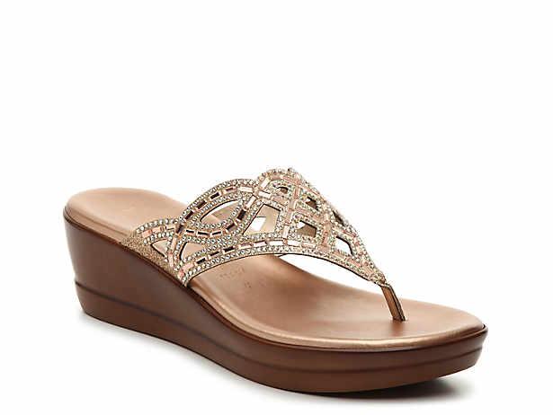 a3e455787 Italian Shoemakers. Rey Wedge Sandal