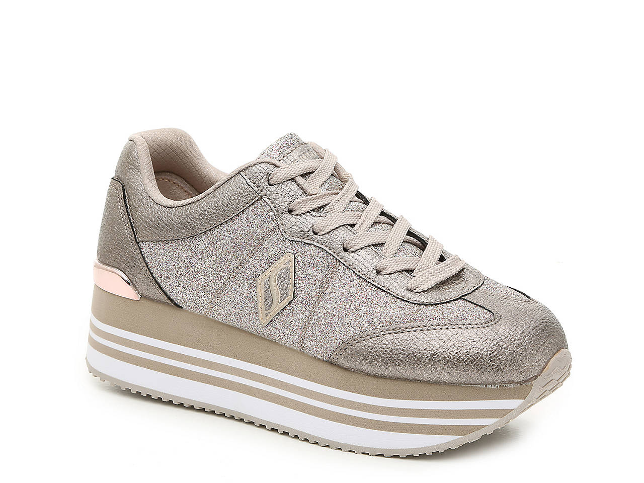 c58a2156f09b Skecher Street Highrise High Flashion Platform Sneaker Women s Shoes ...