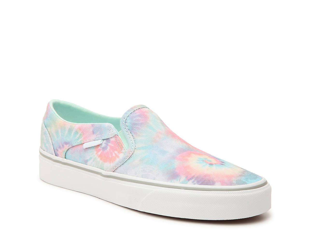 6595e955757 Vans Asher Tie Dye Slip-On Sneaker - Women s Women s Shoes