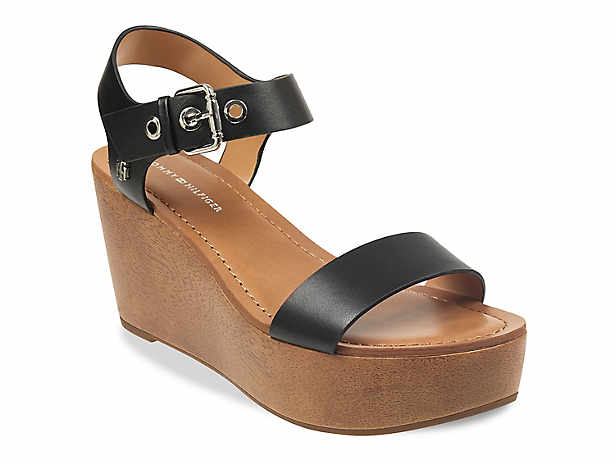 b4b5b441de84 Women s Black Tommy Hilfiger Dress Sandals