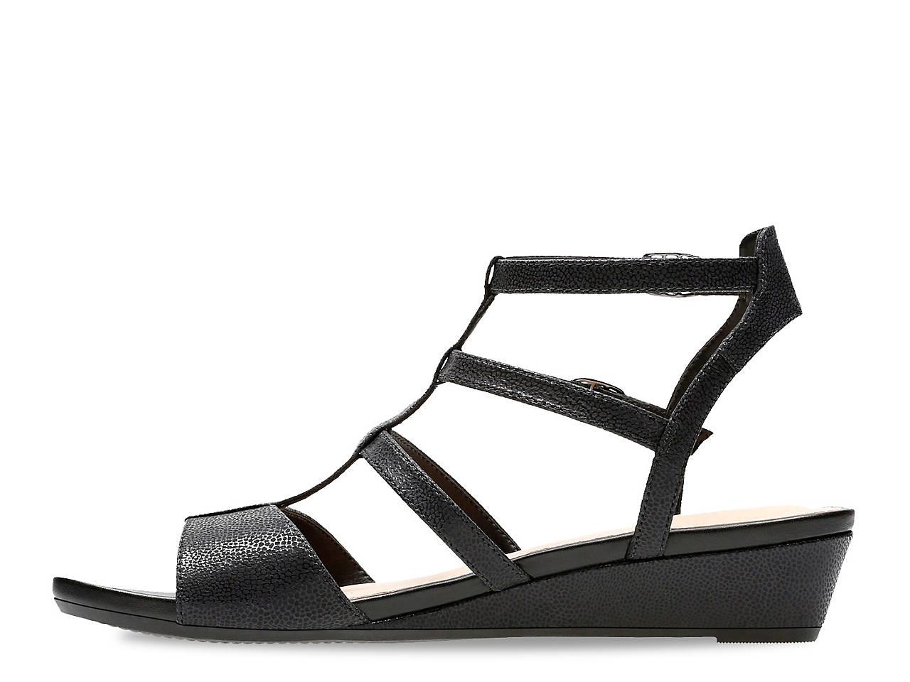 8de34eece Clarks Parram Spice Wedge Gladiator Sandal Women s Shoes