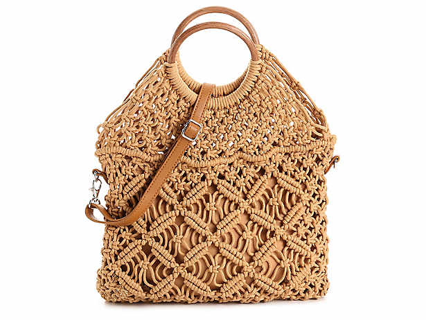 3feb81bafbf Crown Vintage. Macrame Ring Crossbody Bag