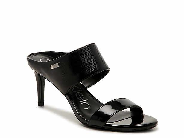 Women'S Black Calvin Klein Mid Heel: 2 3 Sandals Dsw Calvin Klein Black Stilettos Shoes