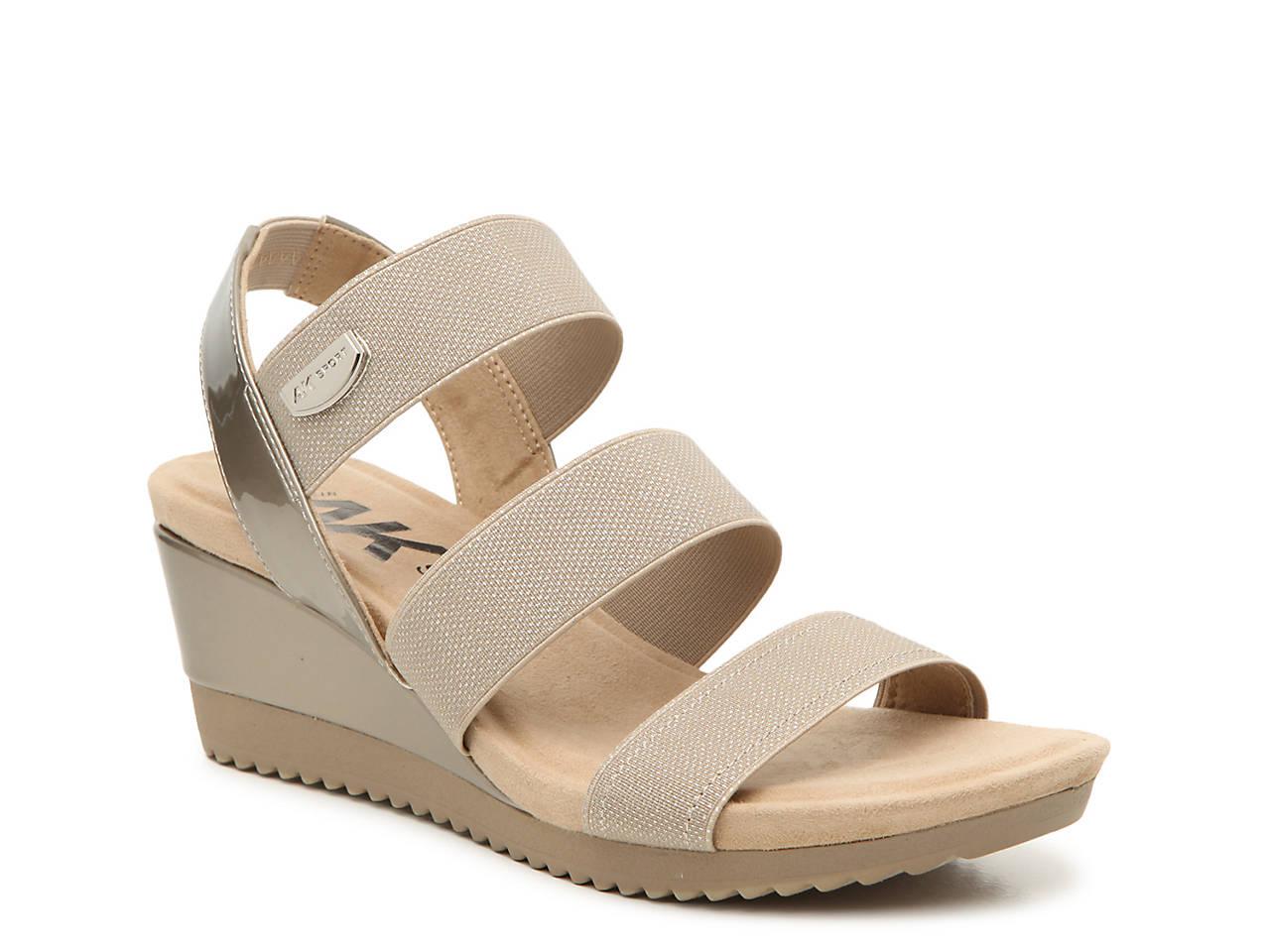 45857f3e720e3 Anne Klein Shelly Wedge Sandal Women's Shoes | DSW