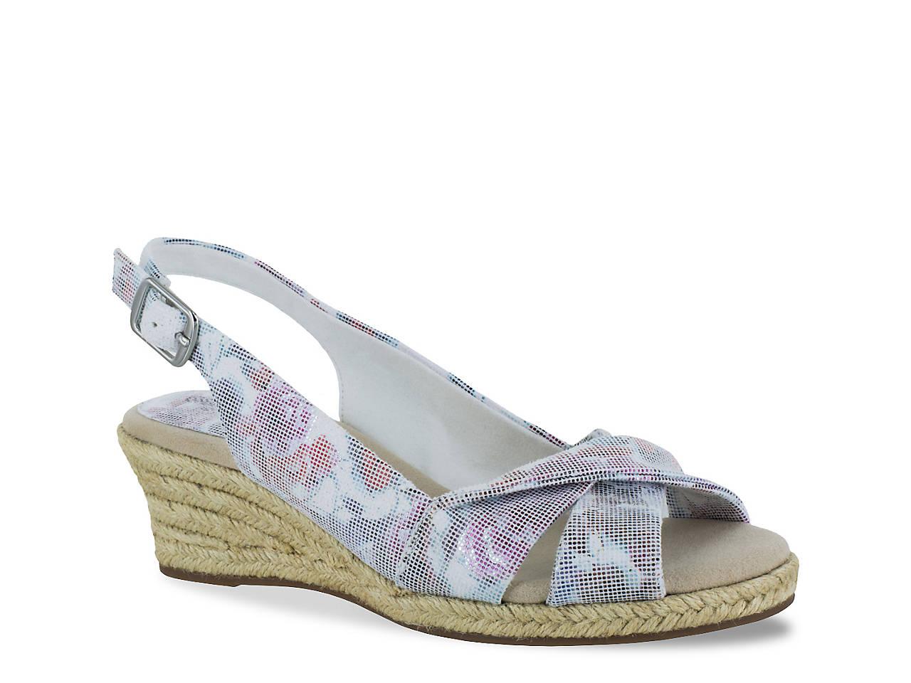 bf59aa8ac164 Easy Street Maureen Espadrille Wedge Sandal Women s Shoes