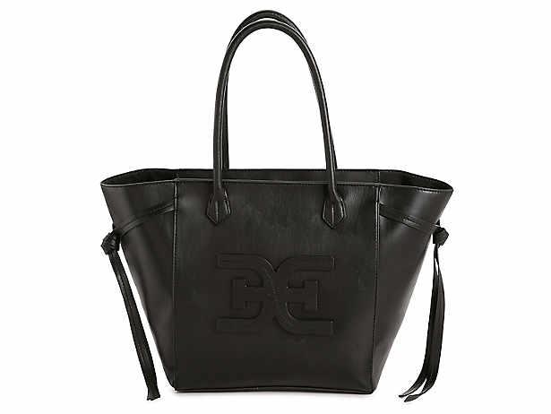 Black. Tote. handbag. Sam Edelman 938ce6af01