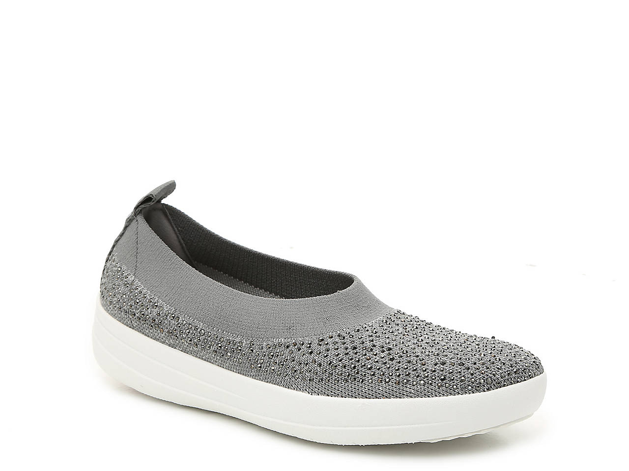 5561d7149d80 FitFlop Uberknit Ballerina Crystal Slip-On Women s Shoes