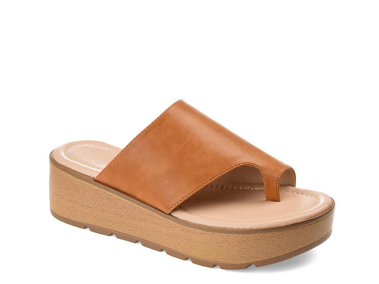b04dda156def Journee Collection Arabel Wedge Sandal Women s Shoes