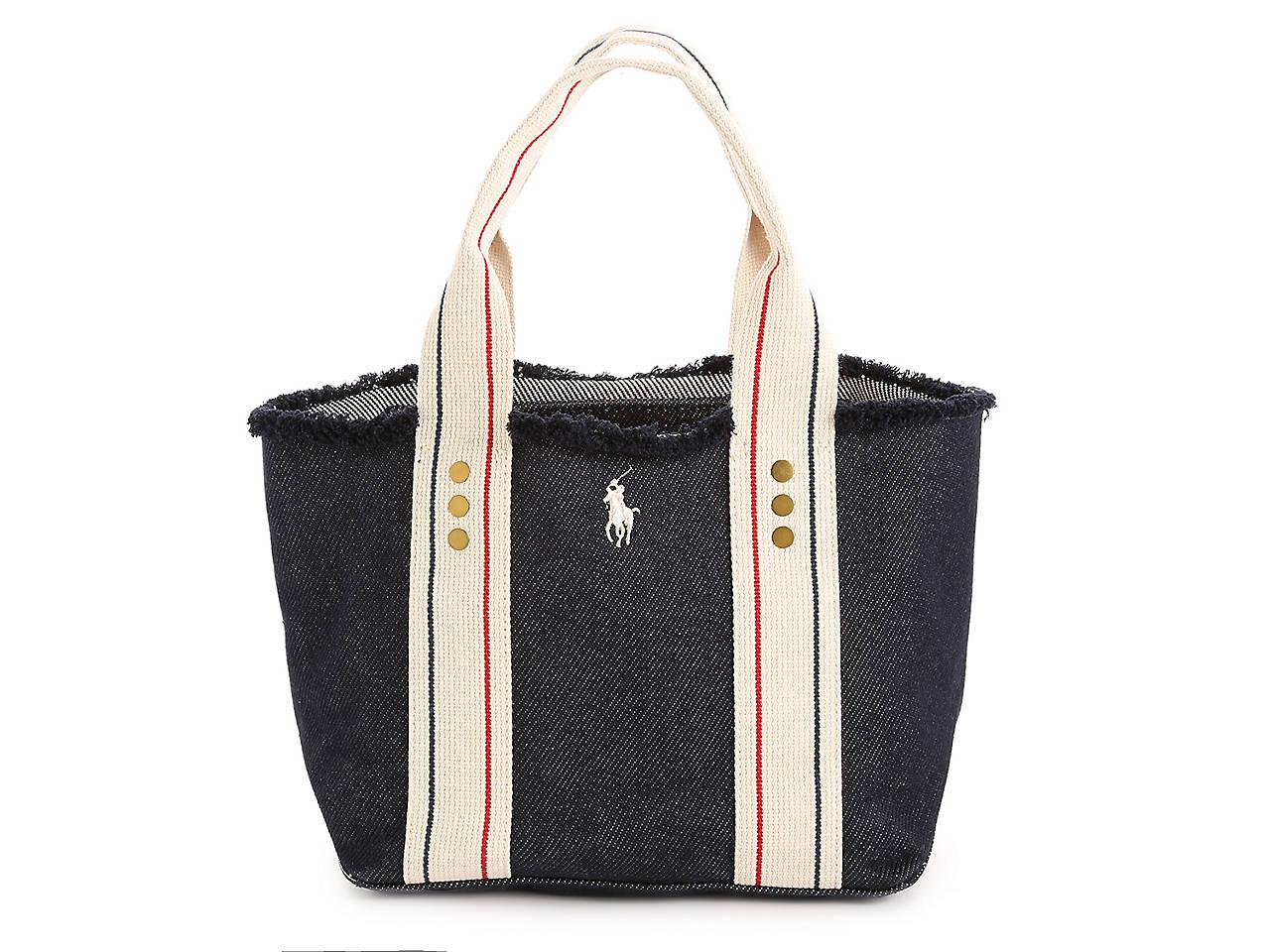 d16c30da5b60 Polo Ralph Lauren Frayed Mini Tote Women s Handbags   Accessories