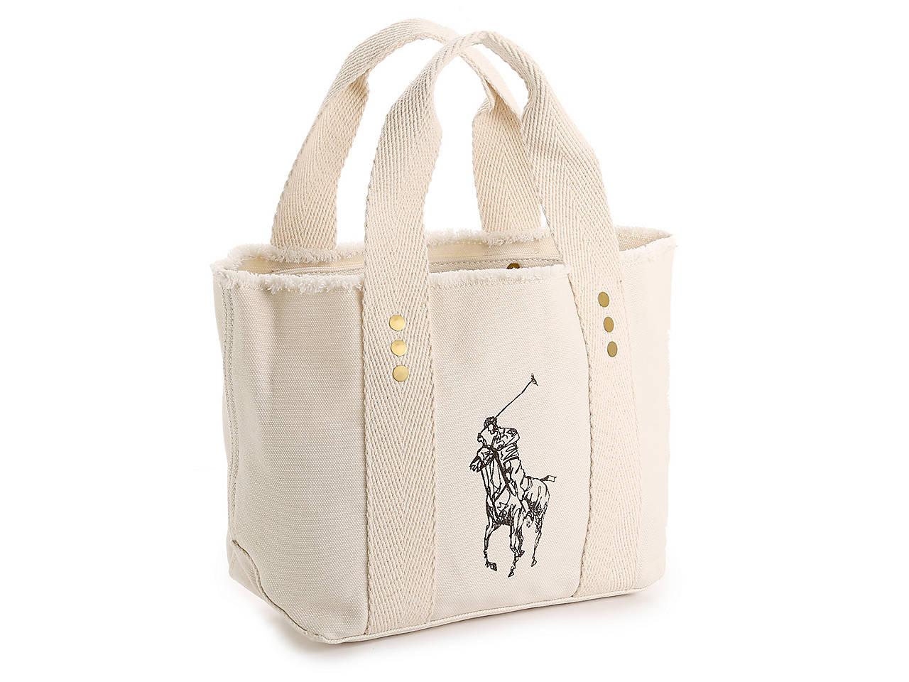 9058620b69d9 Polo Ralph Lauren Frayed Mini Tote Women s Handbags   Accessories