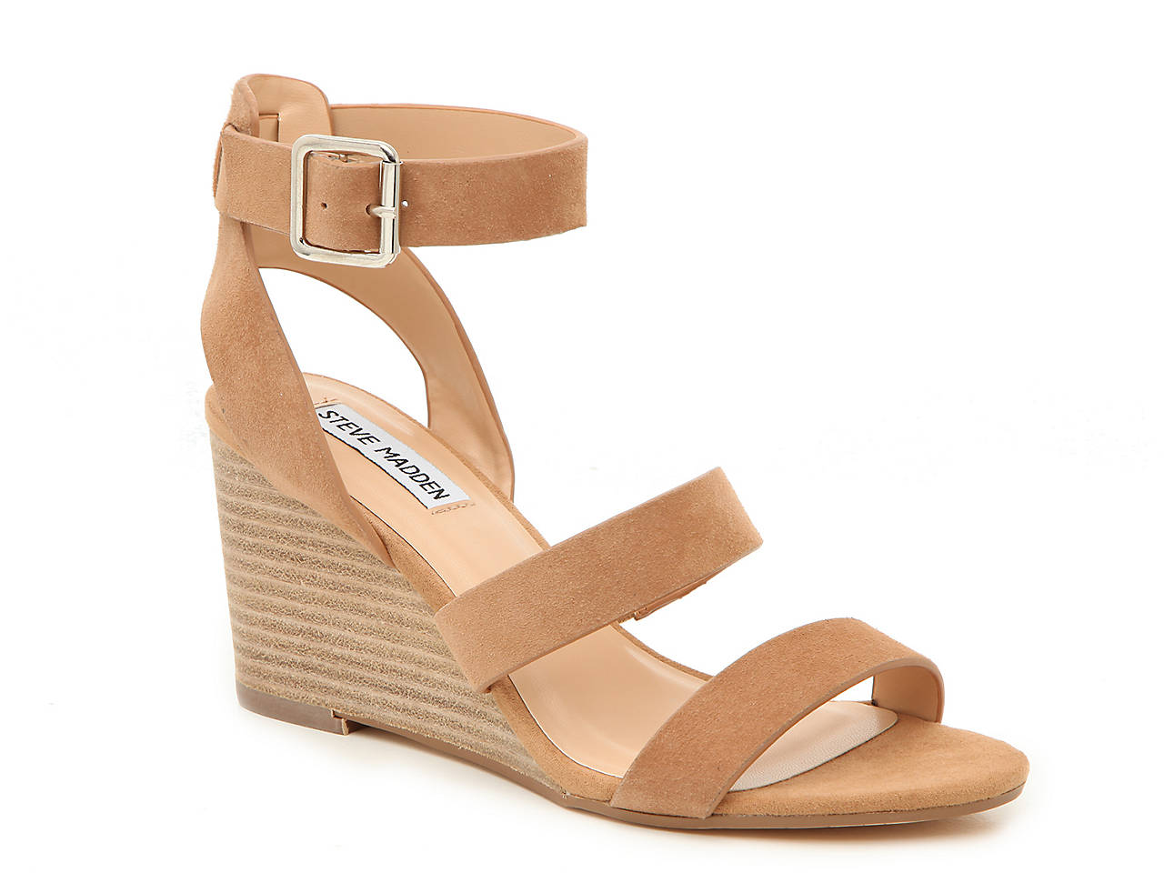discount temperament shoes autumn shoes Steve Madden Caley Wedge Sandal Women's Shoes | DSW