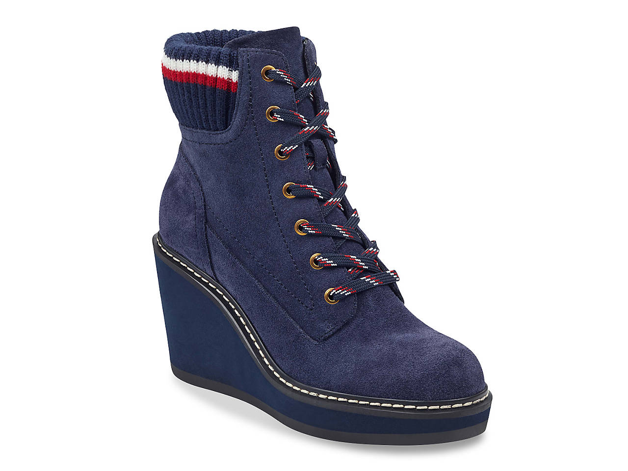 bc1364a556e46e Tommy Hilfiger Solenne Wedge Bootie Women s Shoes