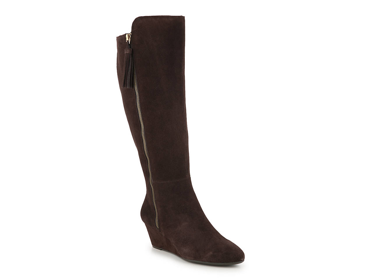 1d172bf9cfb Alanna Wide Calf Wedge Boot