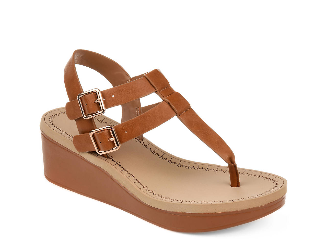 1c66f859275a Journee Collection Bianca Wedge Sandal Women s Shoes