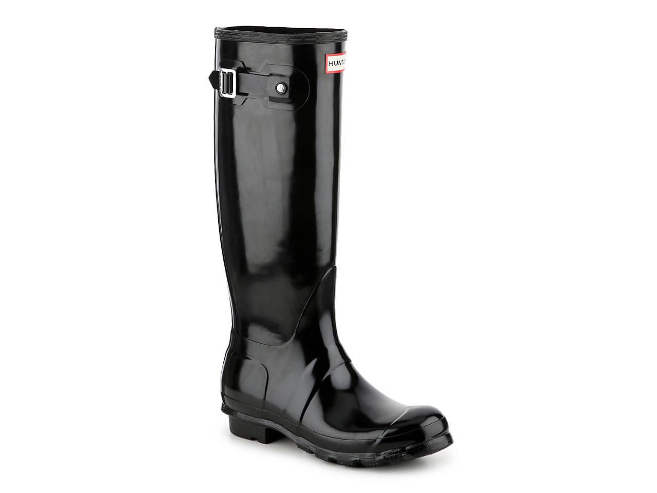 HUNTER Original Tall Gloss Rain Boot Women s Shoes  87403b3d39