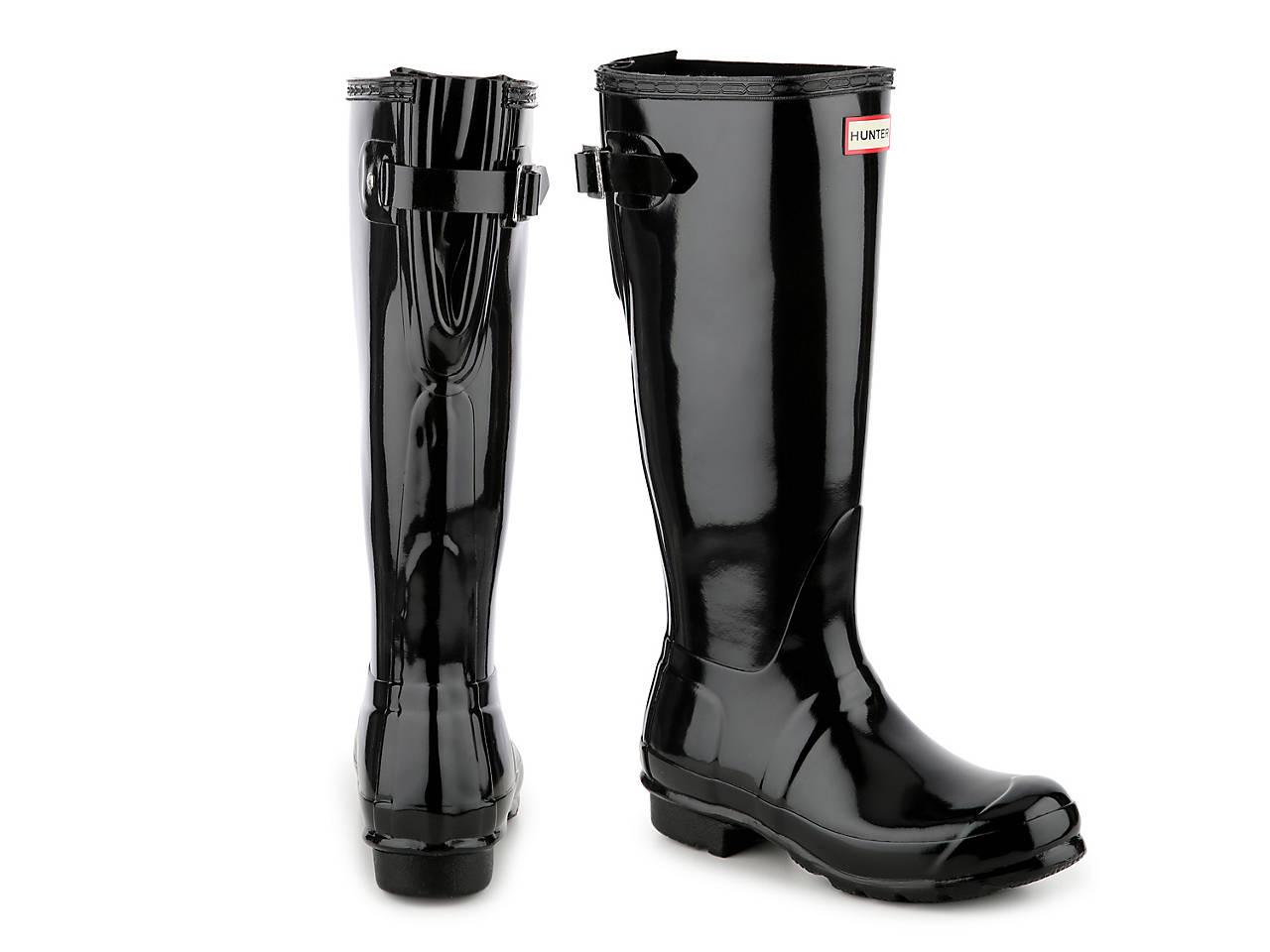 HUNTER Original Tall Gloss Back Adjustable Rain Boot Women s Shoes  976c258b61