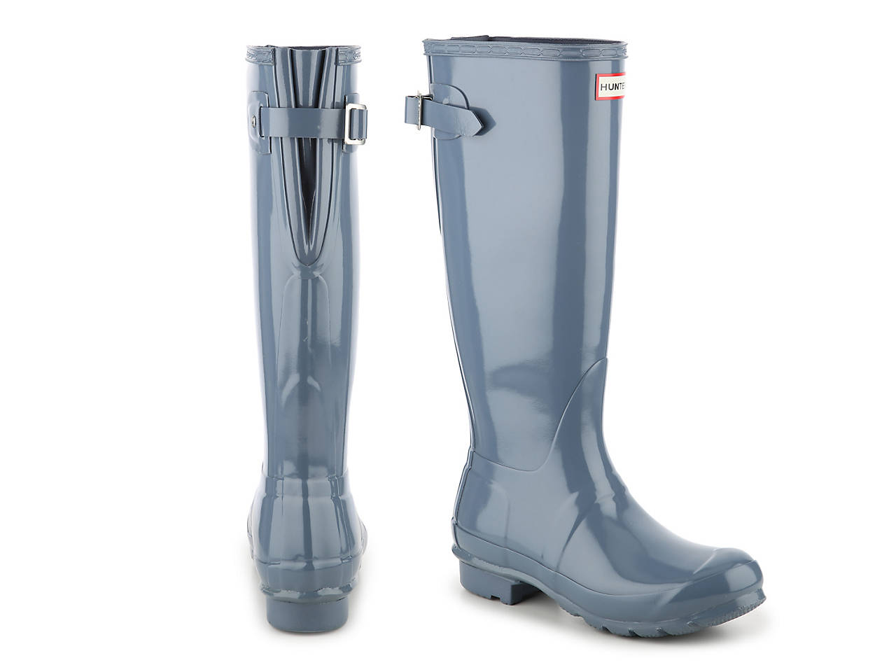 5001a448e HUNTER Original Tall Gloss Back Adjustable Rain Boot Women's Shoes | DSW