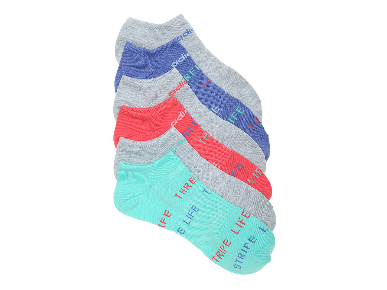 689c6fb812 adidas Superlite Climalite Toddler & Youth No Show Socks - 6 Pack ...