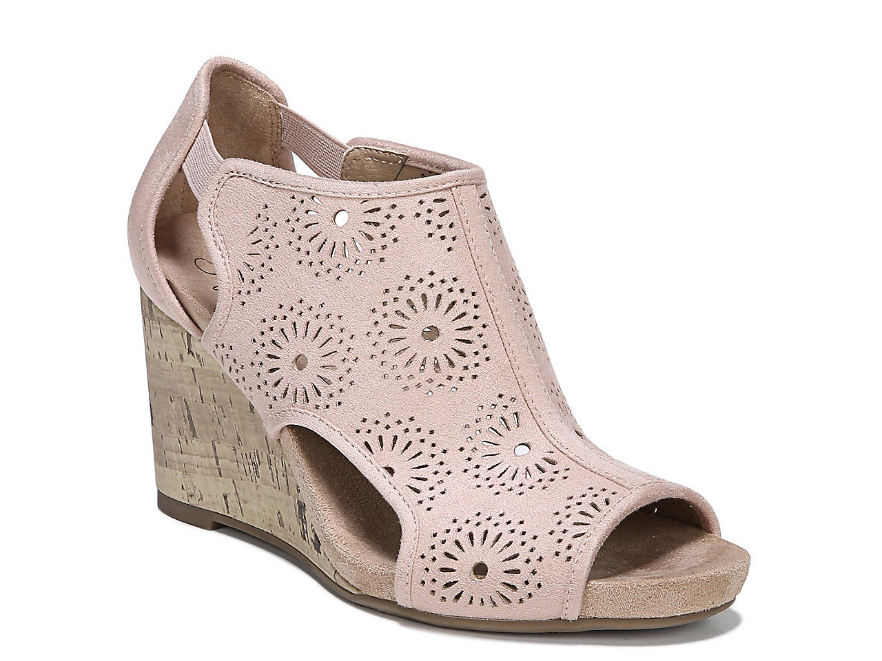 d28be3ab3f9dee LifeStride Hinx Floral Wedge Sandal Women s Shoes