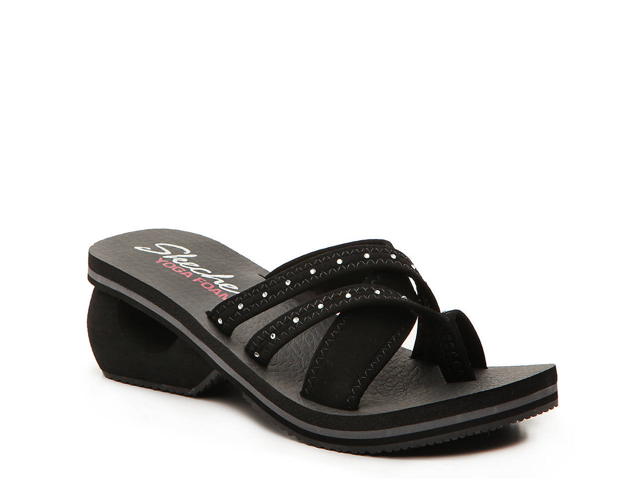 123d661a854b Skechers Cali Cyclers Sole Legacy Wedge Flip Flop Women s Shoes