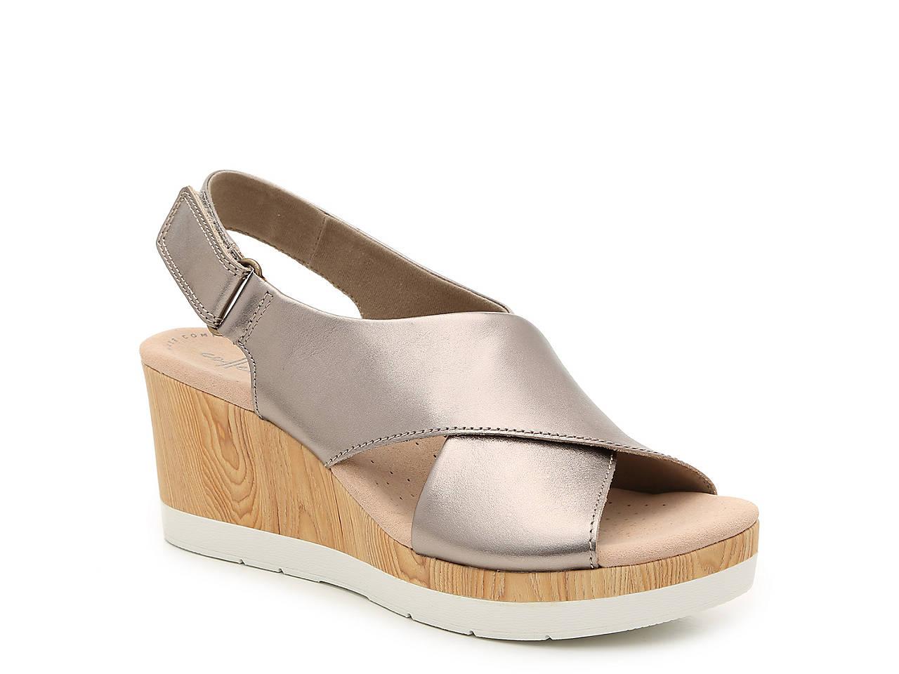 e8297871d Clarks Cammy Pearl Wedge Sandal Women's Shoes | DSW