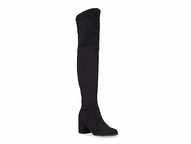 Women's Suede Boots PU Leather Pointed Ombre High Heel Knee High Boots For Winter