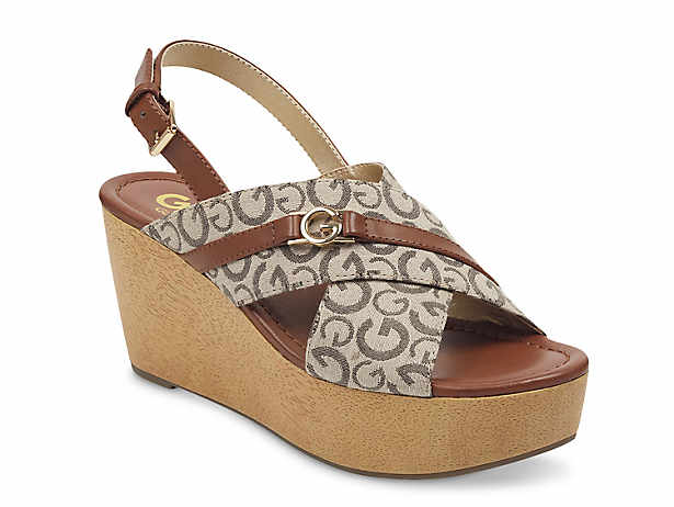 92a052551f2 G by GUESS. Dee Wedge Sandal