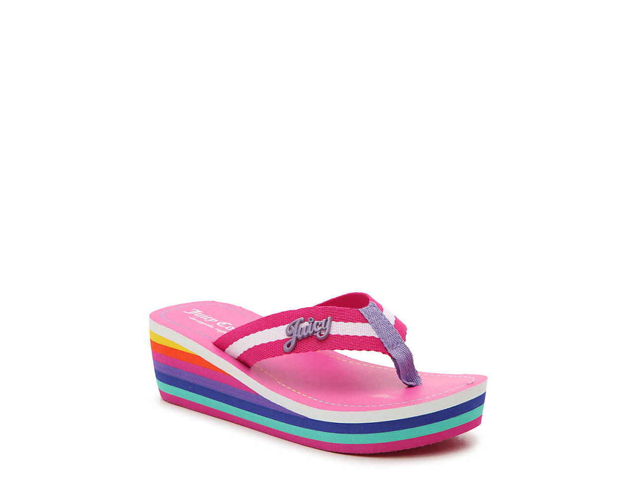 9fbabef43b95 Juicy Couture Topanga Toddler   Youth Wedge Sandal Kids Shoes