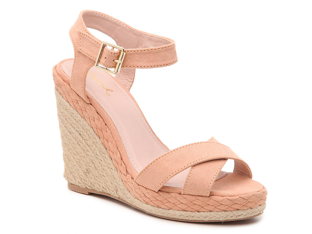 72f87bba1ef Qupid Elara-08 Espadrille Wedge Sandal Women s Shoes