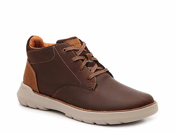 Men's Skechers Resalyte Shoes Relaxed Fit Leather Lace Up