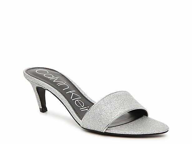 fd12f2aac5b1 Women s Silver Calvin Klein Dress Sandals
