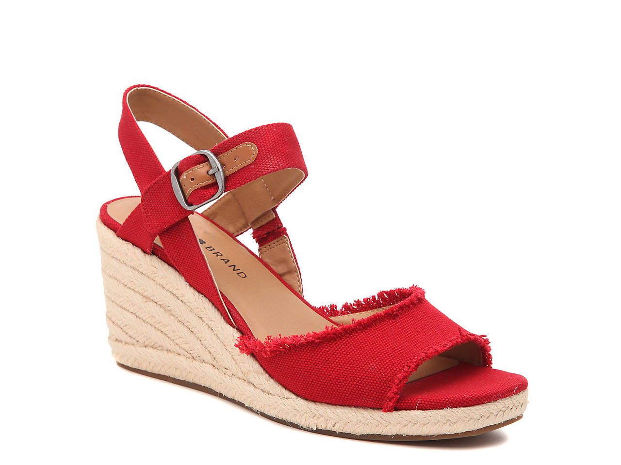 4262cb317 Lucky Brand Mindra Espadrille Wedge Sandal Women's Shoes | DSW