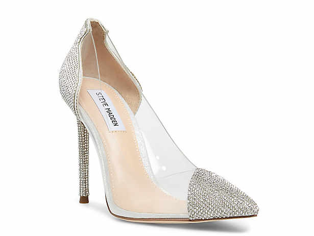 WOMENS LADIES ANKLE STRAP MID BLOCK HEEL PUMPS CLEAR STYLE
