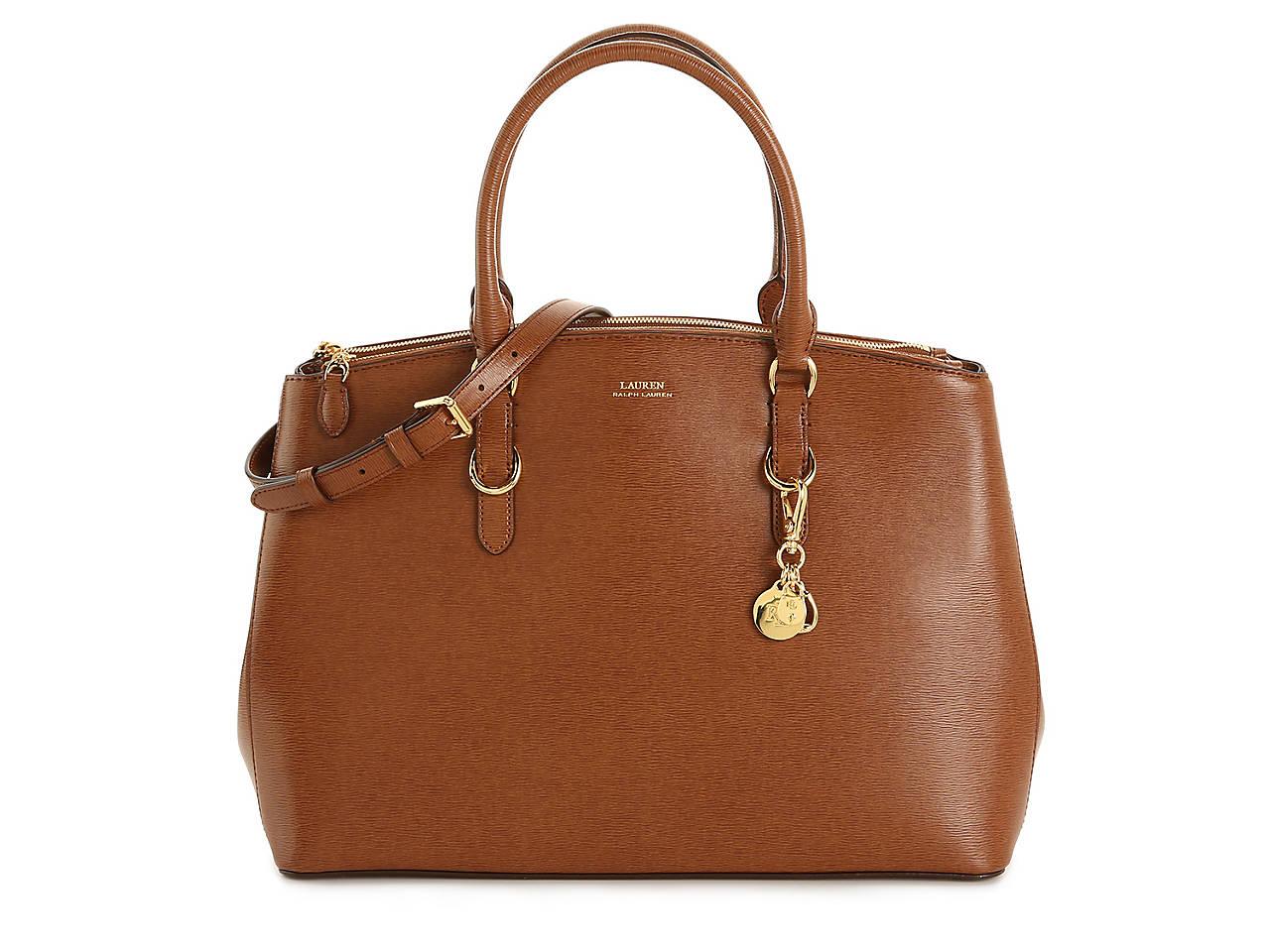 Double Zip Leather Satchel by Lauren Ralph Lauren