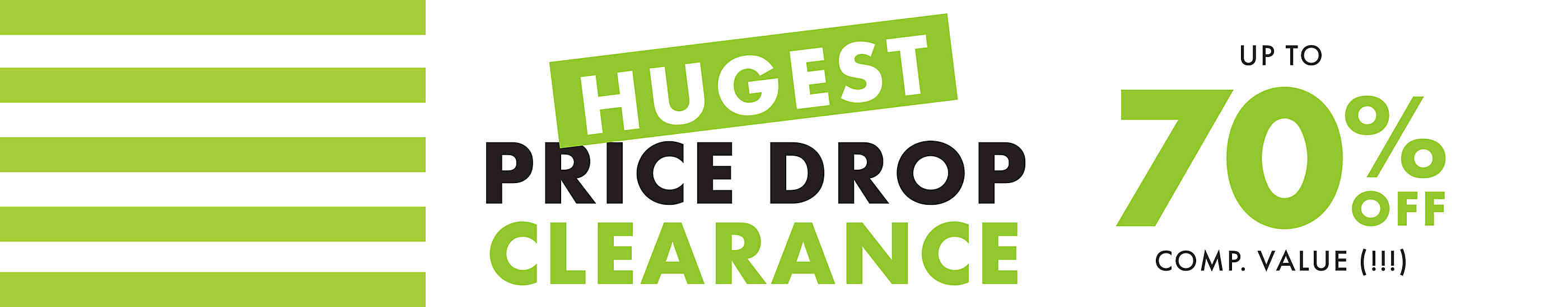 Hugest price drop clearance up to 70% off comp. value (!!!)