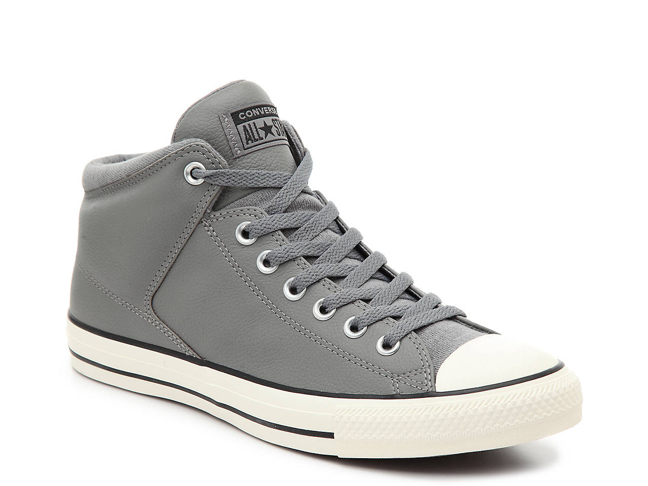 Converse. Chuck Taylor All Star Hi Street Leather High-Top Sneaker ... 65baf507e