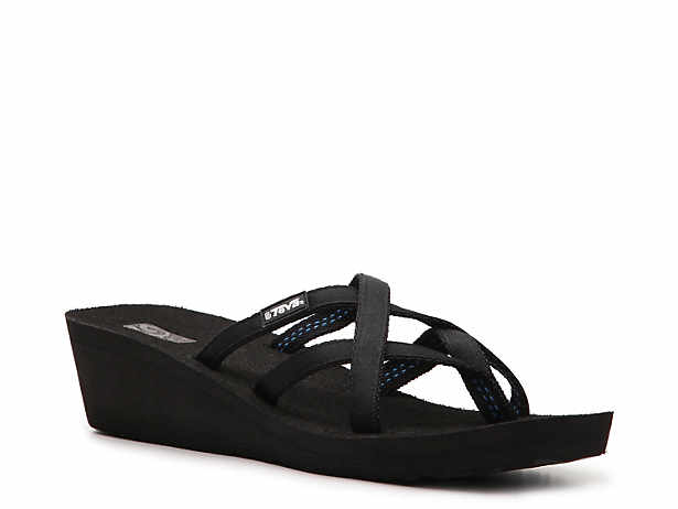 Teva Mush Mandalyn Ola Ii Wedge Flip Flop Womens Shoes  Dsw-1125
