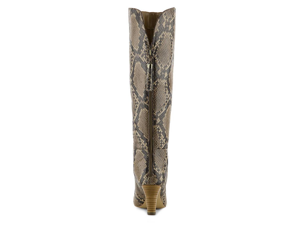 9f56052b19e3 Bandolino Wendaw Wide Calf Snake Boot Women s Shoes