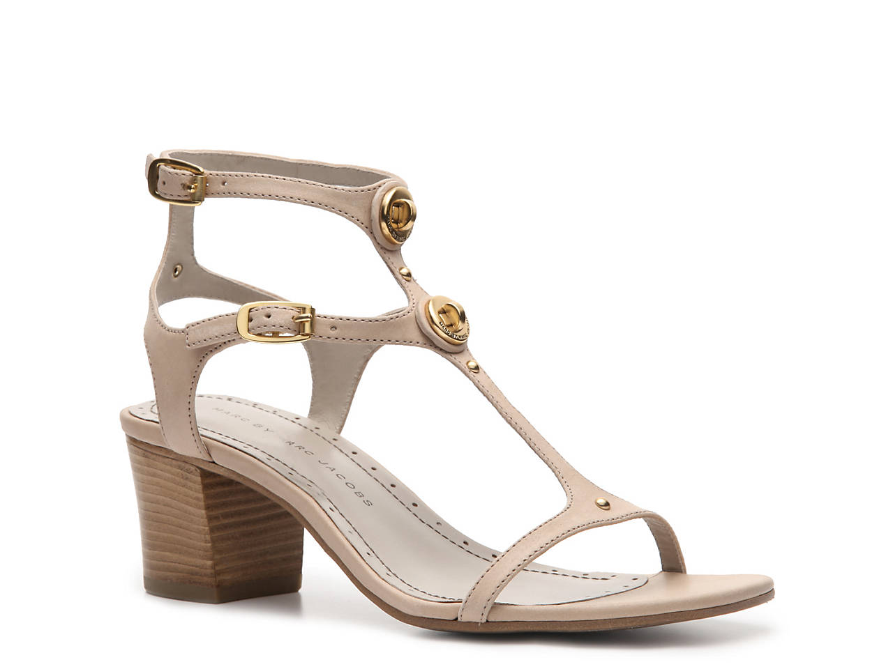 Marc by Marc Jacobs Leather Turnlock Sandal Women s Shoes