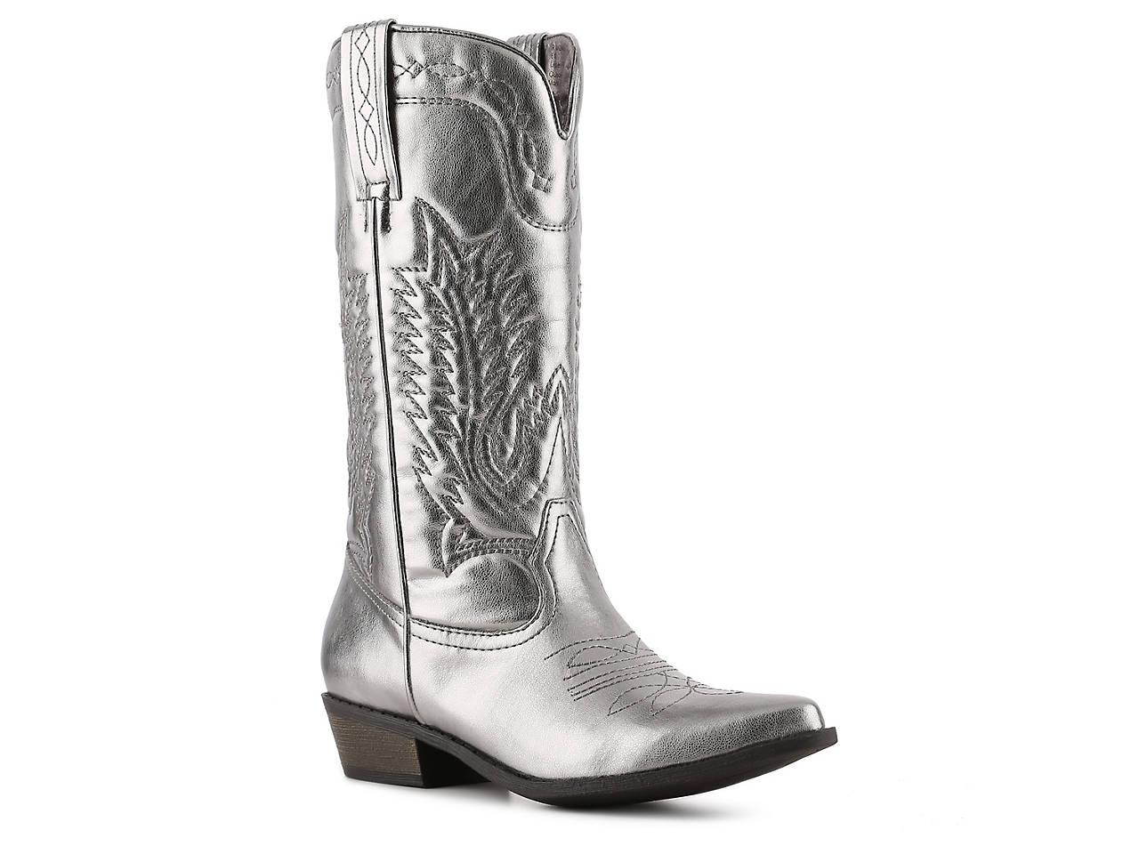 58d0331f5c4356 Coconuts Rancho Metallic Cowboy Boot Women s Shoes