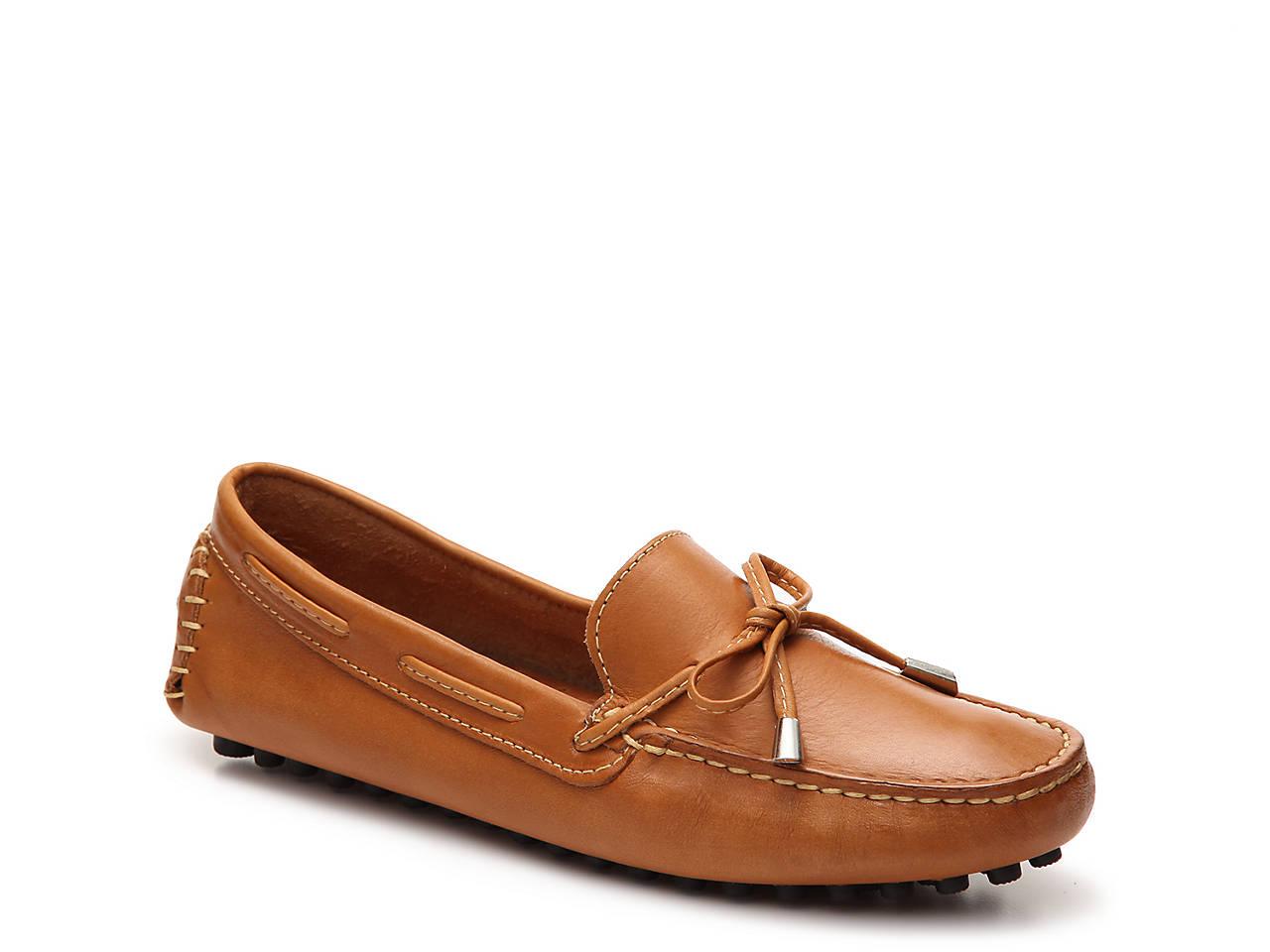 Cognac Ladies Leather Loafer Mercanti Fiorentini