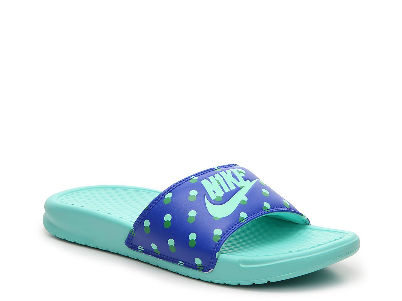 259f54793 Nike Benassi Just Do It Polka Dot Slide Sandal Women s Shoes
