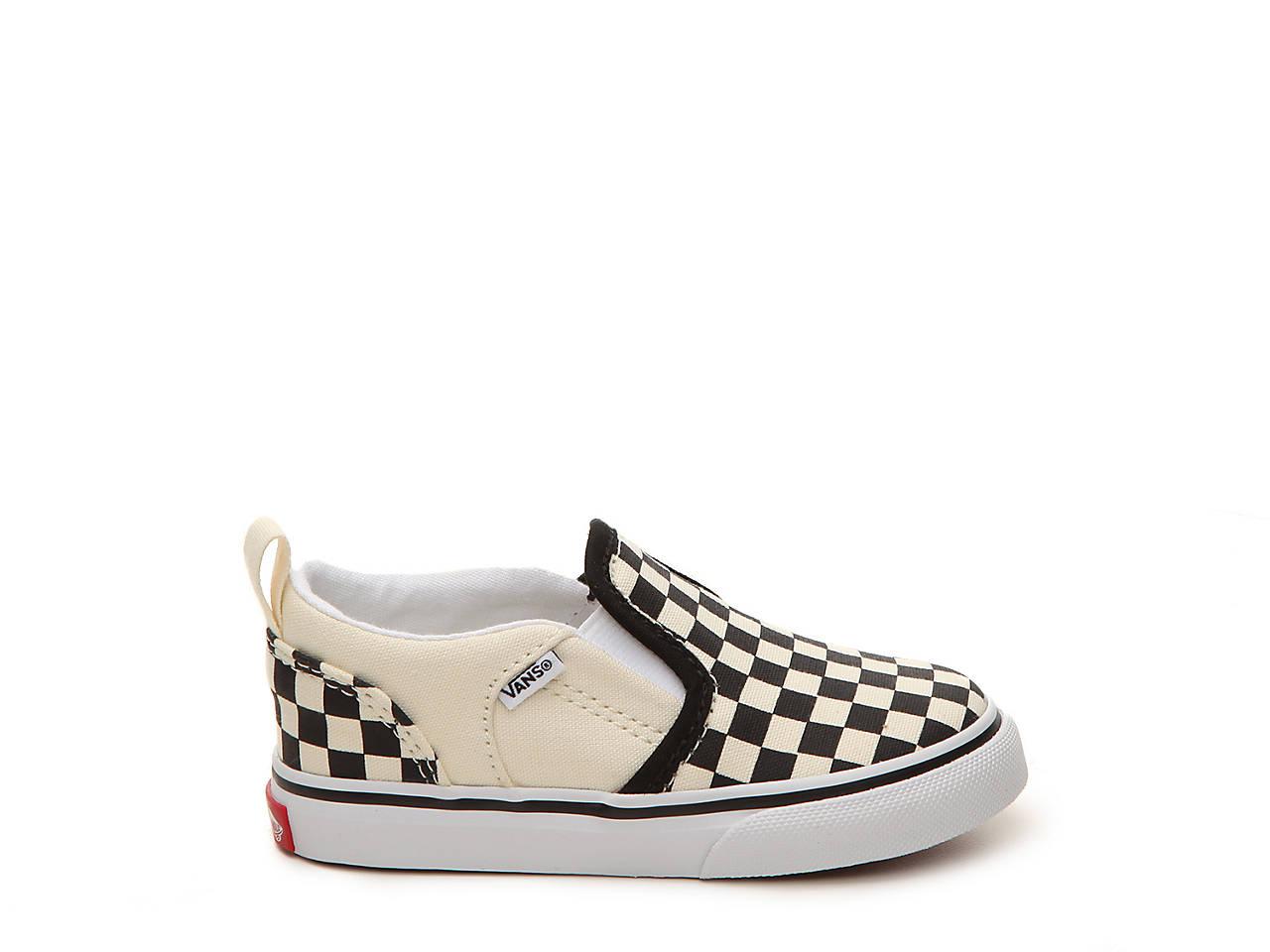 8672e93fe6d5a8 Vans Asher Checkers Infant   Toddler Slip-On Sneaker Kids Shoes