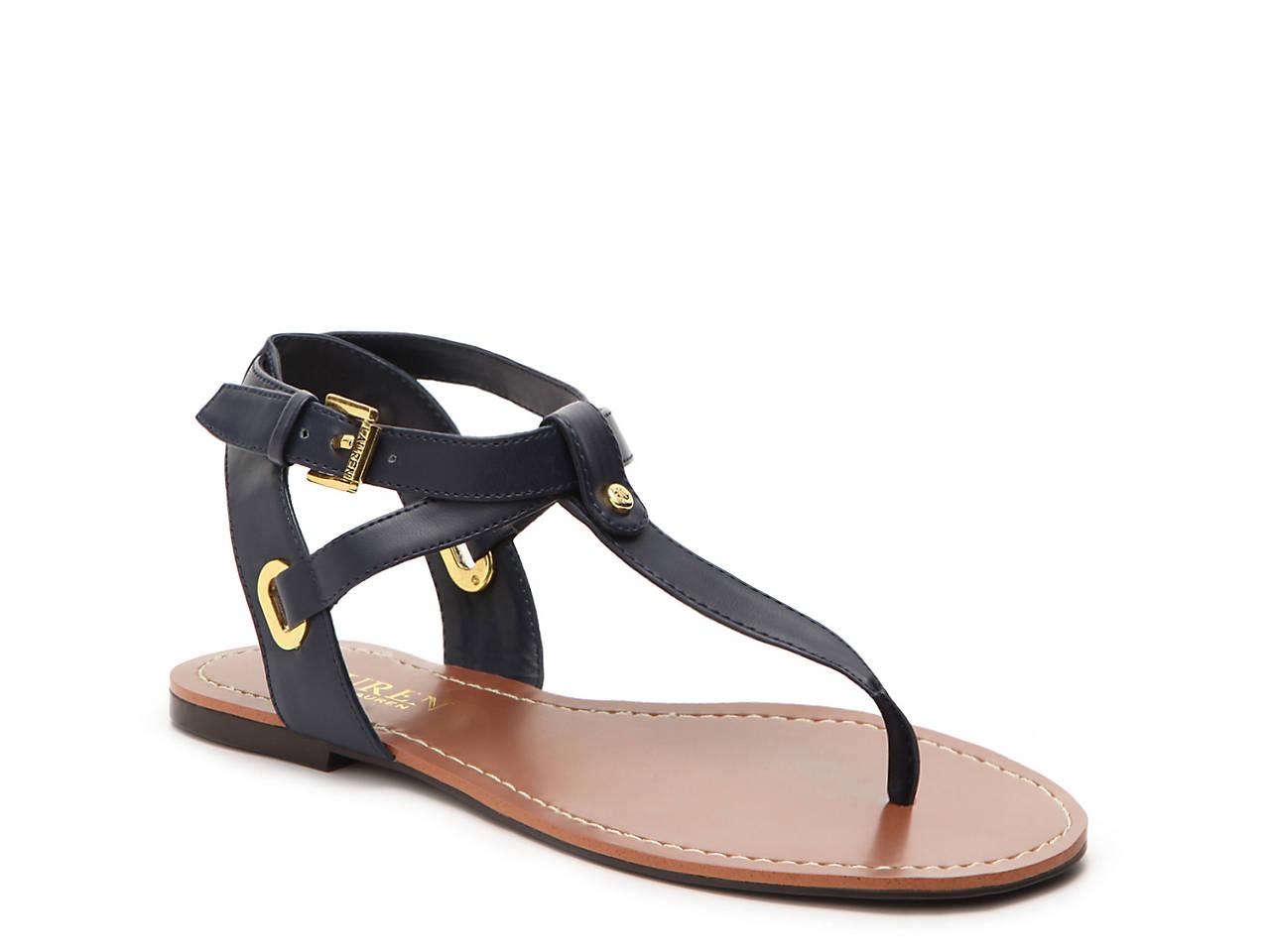 0b27fad9c4e6 Lauren Ralph Lauren Adina Flat Sandal Women s Shoes